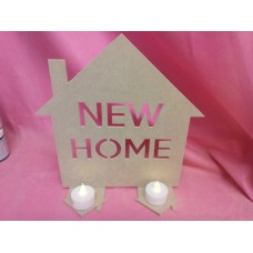 4mm Thick MDF new home  house tea light holder